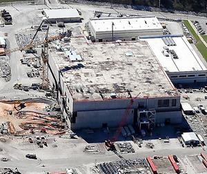 米政府が建設を打ち切る方針を示したMOX燃料工場=昨年10月、米サウスカロライナ州のサバンナリバー(C)High Flyer, via SRS Watch