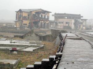 津波で破壊されたままの住宅=7日、福島県浪江町、東北AID提供