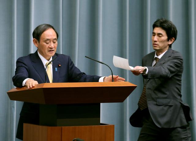記者会見で安田純平さんに関する質疑の途中、参事官... 拘束の安田さん救出の道筋は 政府、身代金