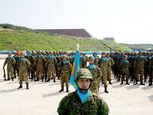 与那国島、陸自部隊を配備 駐屯地で式典 南西諸島防衛