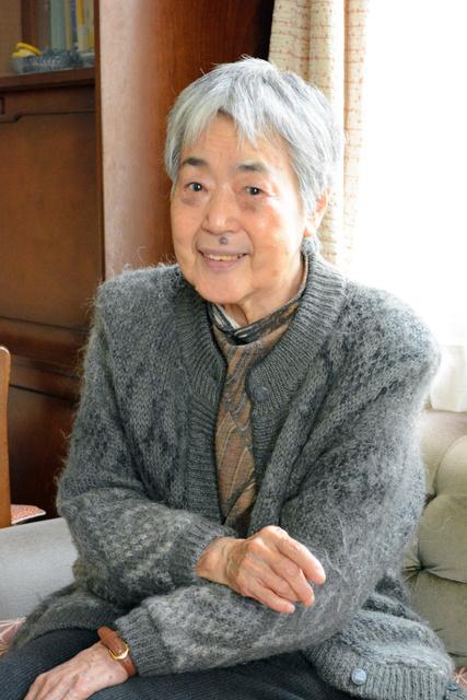 「安保法を止めるまで生き続ける」と話す医王滋子さん=京都市右京区