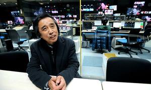 「この国のテレビの姿は、政治の影響下にある中国やロシアのテレビと五十歩百歩ではないのか」=天田充佳撮影