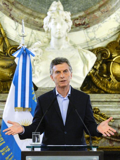 アルゼンチンのマクリ大統領=ロイター