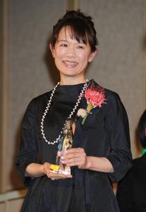 本屋大賞を受賞した宮下奈都さん=天田充佳撮影