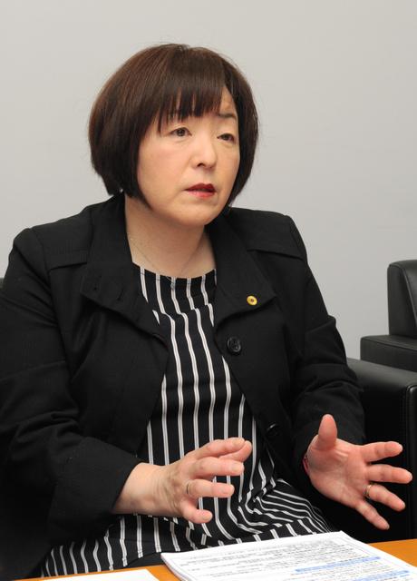 NPO法人がんと共に生きる会の関孝子理事=大阪市