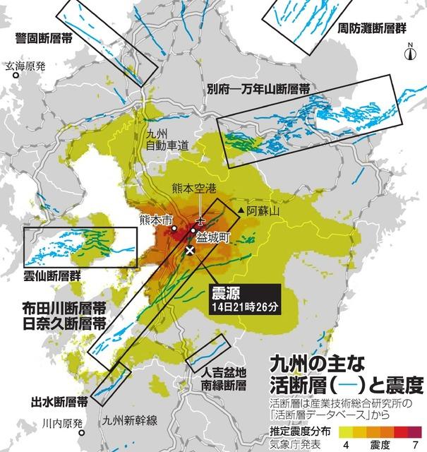 熊本地震、なぜ大きな揺れに ...