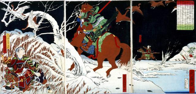 真田信繁(幸村)の活躍を描いた錦絵=江戸東京博物館提供