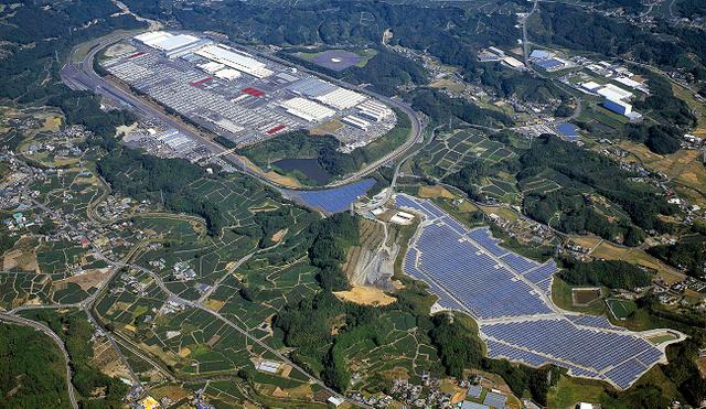 輸出車の組み立て拠点として牧之原市に2008年に完成したスズキ相良工場=スズキ提供