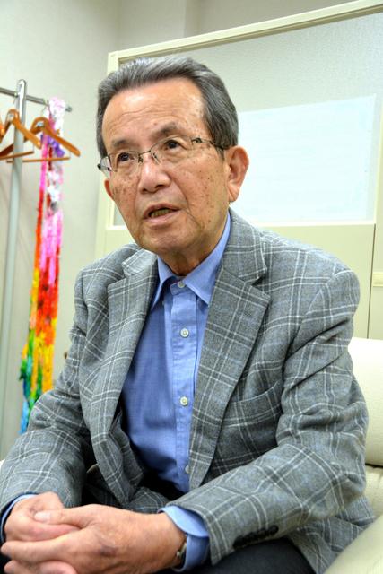 「長く続く放射線の影響について、意外と日本でも知られていない」と危機感を示す児玉光雄さん=広島市中区