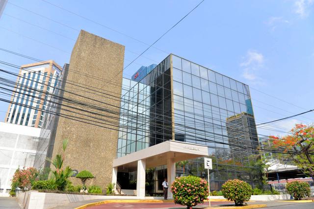 法律事務所「モサック・フォンセカ」が入るパナマ市内のビル=田村剛撮影