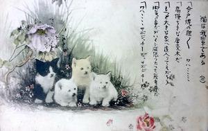 「吾輩」発表後、漱石に猫の絵はがき 捨てられず保管か