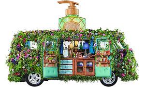 一面植物で覆われた車「ボタニカル号」