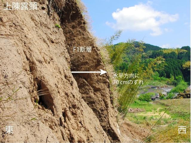 なおじい (HOBBY:カメラ・ビデオ撮影・DVDオーサリング/資格:ラジオ体操指導員・防災士・応急手当普及員)熊本地震の断層の横ずれ、くっきり 山口大講師ら調査