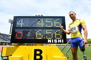 山本篤が走り幅跳び世界新 日本パラ陸上選手権大会