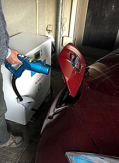パワーステーションを使って電気自動車の蓄電池と住宅で電気を出し入れしている