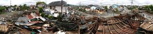 パノラマ写真が語る熊本地震の建物被害