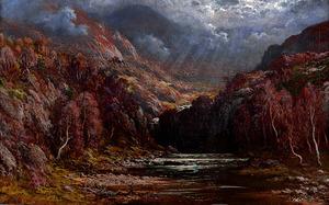 「嵐の後、スコットランドの急流」=個人蔵 Collection privee