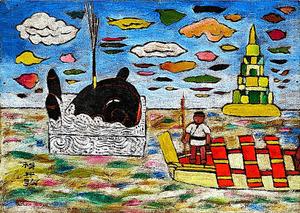 横井弘三「クジラのオモチャ」(1925年ごろ)=個人蔵