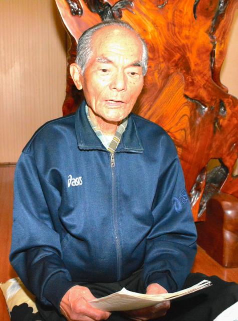 オバマ大統領の広島訪問への思いや被爆体験を語る田中さん=鳥取市