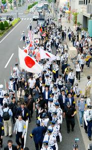 名古屋でヘイトデモ、対策法成立後初の週末 抗議の声も