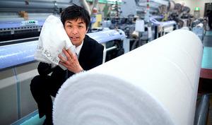 坂本将之さん 試作したタオル、2000種類以上