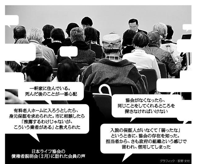 日本ライフ協会の債権者説明会(2月)に訪れた会員の声<グラフィック・荻野史杜>