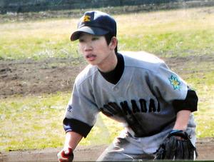 高校で二塁手だった市川大輔さん=市川正子さん提供