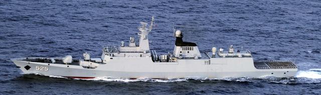 中国海軍のジャンカイI級フリゲート艦=防衛省統合幕僚監部提供