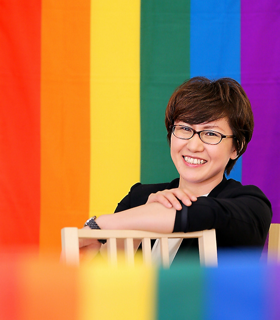 将来、財団をつくるのが夢。「私自身、故郷を離れたくて苦学しましたが、そんな性的少数者を支えたい」=大阪市淀川区