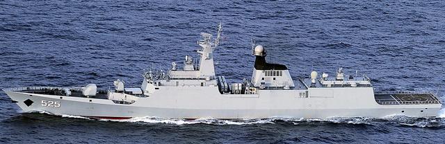 中国海軍のジャンカイ1級フリゲート艦=防衛省統合幕僚監部提供