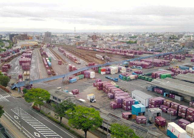 県広域防災拠点の建設が予定される仙台貨物ターミナル駅=仙台市宮城野区