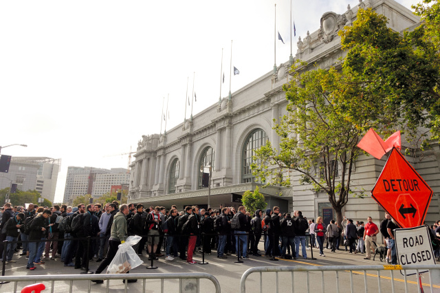 写真1 WWDCの基調講演会場となった、米サンフランシスコのビル・グラハム市民講堂