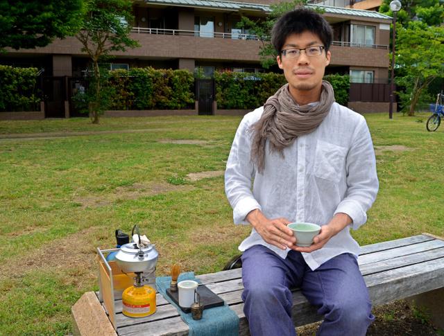 時代に合った茶道の形を探る茶人の中山福太朗さん=京都市左京区