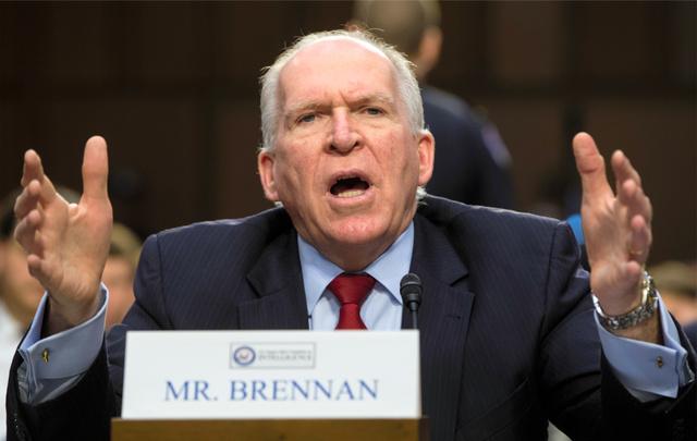 ワシントンで16日、証言する米中央情報局(CIA)のブレナン長官=AP