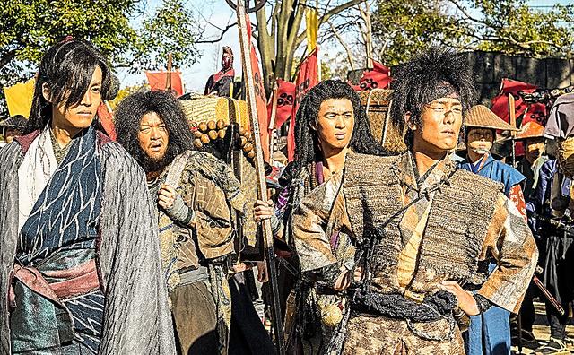 大阪城でロケがあった場面