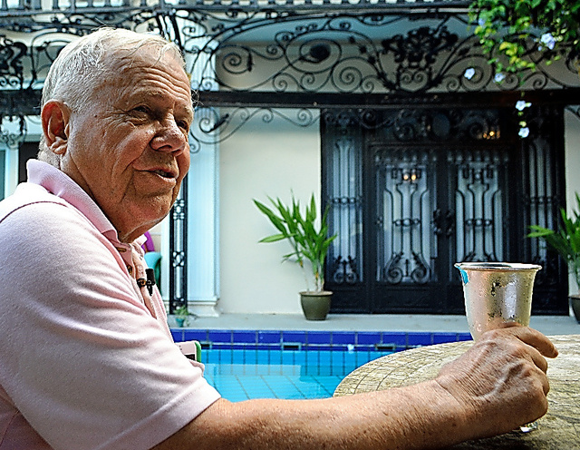 投資家のジム・ロジャーズさん=シンガポール、都留悦史撮影