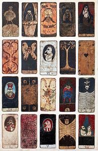 ロベール・クートラス「僕の夜のコンポジション」(1967~81年、油彩・紙、各約12センチ×6センチ)=個人蔵