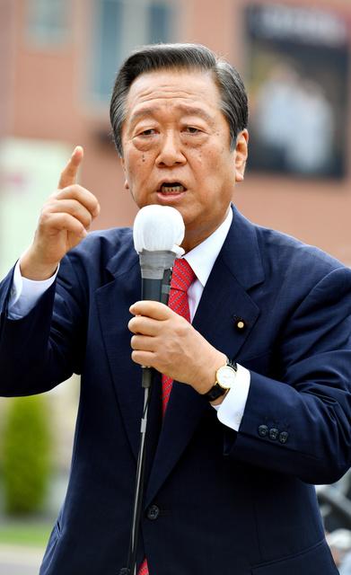 生活の党の小沢一郎代表=22日午後2時36分、岩手県二戸市、福留庸友撮影