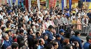 参院選公示の聴衆@熊本