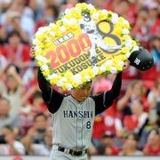 阪神・福留が日米通算2千安打達成 日本選手で6人目