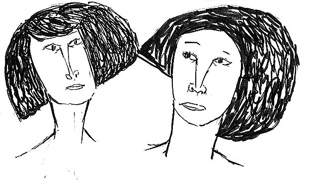 「見つめる 幼なじみ」 絵・皆川明