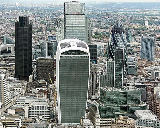 ロンドンの金融街シティー=AFP時事