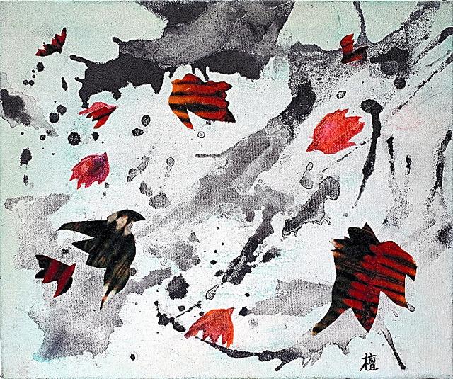 檜垣檀(まゆみ)展 オルニス 鳥とともに