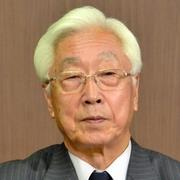 NHKの新しい経営委員長に決まった石原進氏=28日午後9時13分、NHK放送センター、滝沢文那撮影