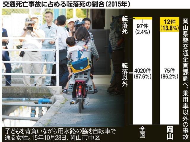 交通死亡事故に占める転落死の割合(2015年)