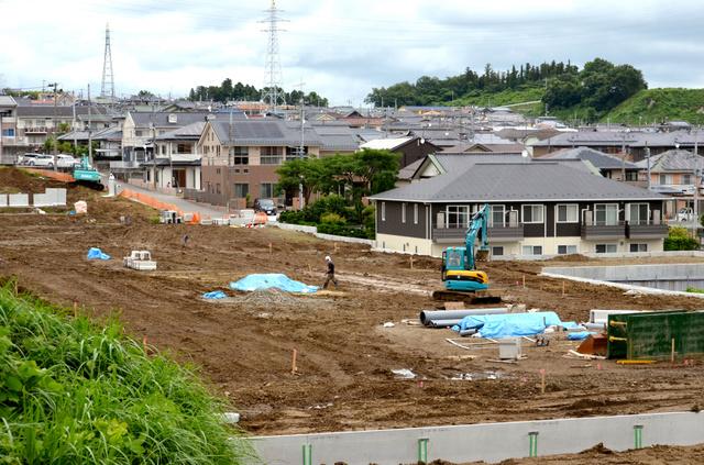 宅地の造成が進む住宅街=福島県いわき市