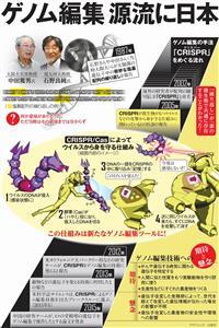 ゲノム編集、源流に日本<グラフィック・古家亘>