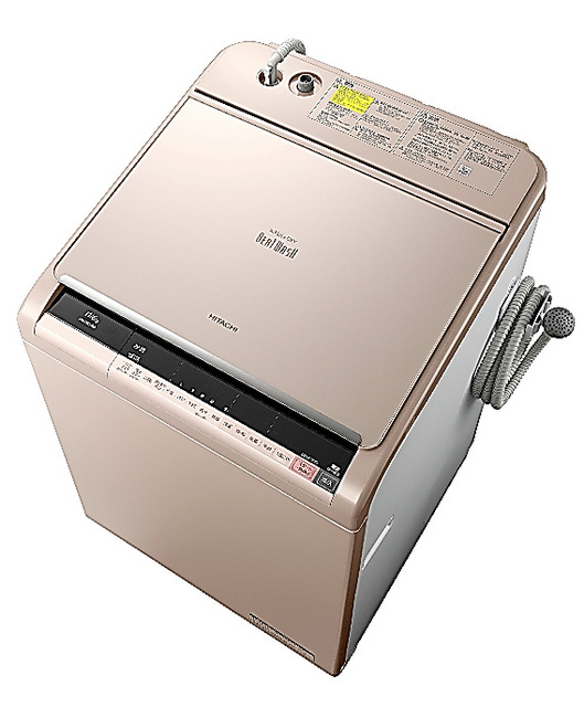 洗濯乾燥機「ビートウォッシュ」BW―DX110A(日立)。容量11キロは家庭向け縦型としては業界最大。実勢価格は約24万円(税込み)。