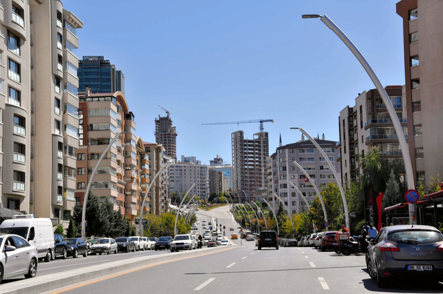首都アンカラでは、ビジネス街として再開発が進む=昨年9月