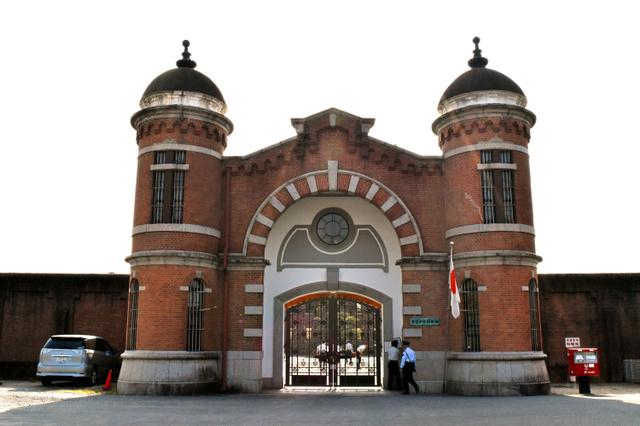 奈良少年刑務所の表門=奈良市般若寺町